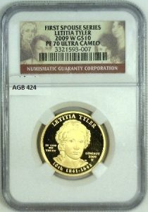 These are the first 1/2 oz Gold coins in the U.S. Mint's history that the metal content is .9999 fine. Low mintages offer great collectibility to this series.